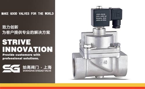 SI不锈钢活塞式高压电磁阀