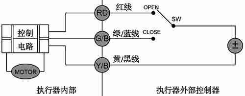 CR02微型电动球阀接线图
