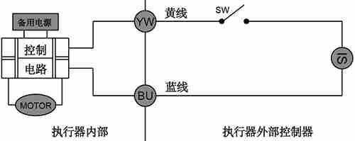 CR04微型电动球阀接线图
