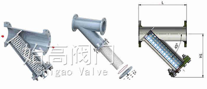 焊制Y型过滤器尺寸图