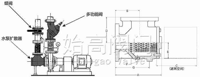 水泵扩散器尺寸图
