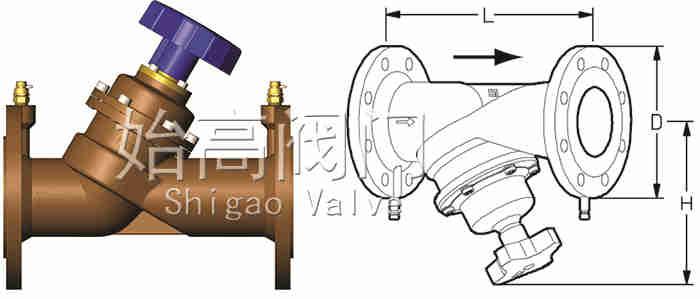瑞典TA型静态平衡阀尺寸图