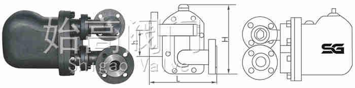GM.GSB杠杆式疏水阀尺寸图