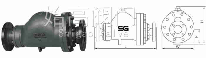 G3杠杆浮球式蒸汽疏水阀尺寸图