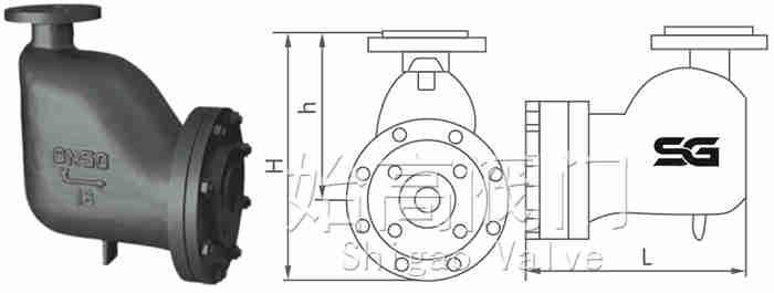GH4杠杆式疏水阀尺寸图