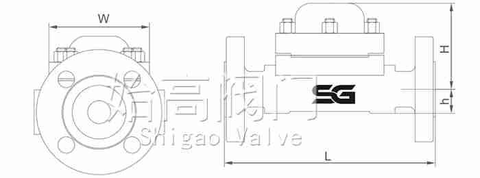 高压热动力圆盘式蒸汽疏水阀尺寸图