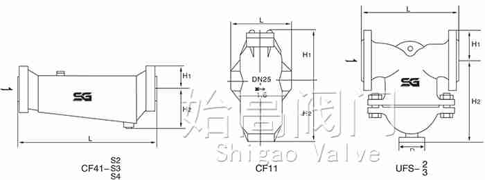 CF41汽水分离器尺寸图