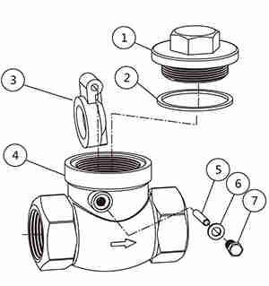 不锈钢旋启式止回阀结构图