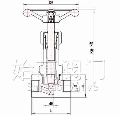 J11W-40P低温针阀尺寸图