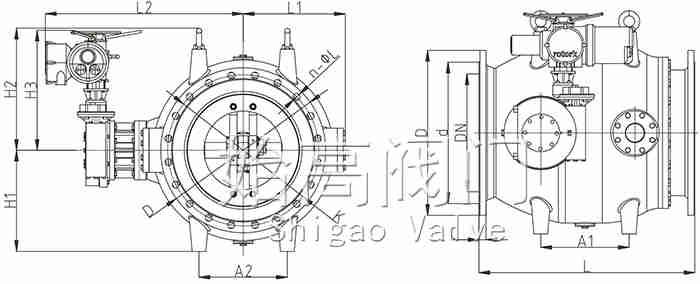 电动调流调压阀尺寸图