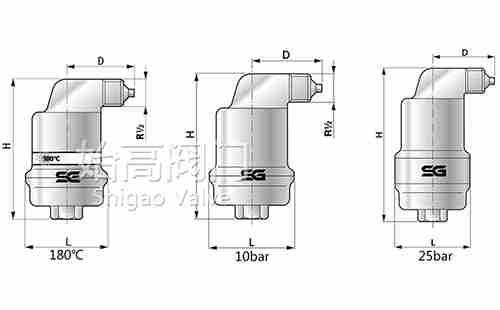 AB050不漏液自动排气阀尺寸图