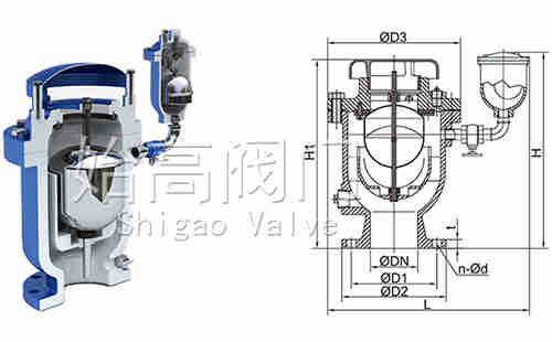 FGP4X复合式高速排气阀尺寸图