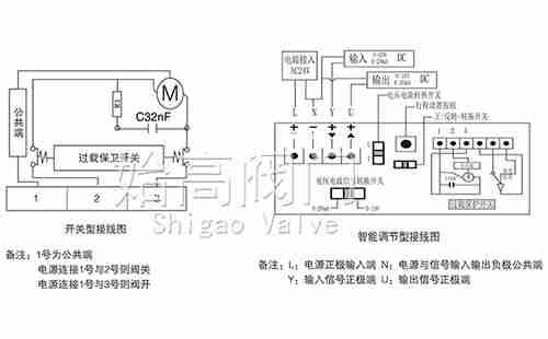 VB3200比例积分电动调节阀接线图
