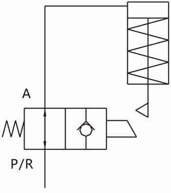 KP-XC13系列行程控制式球阀图形符号