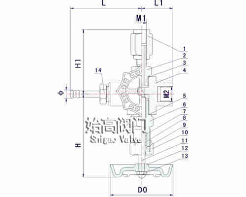 GMJ14F/H高密封取样阀尺寸图