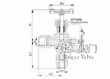 J29W-320P压力计针型阀尺寸图