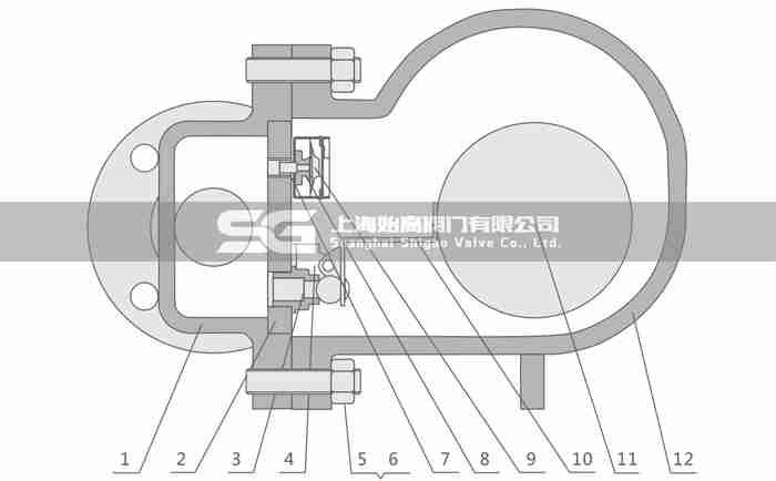 FT44单阀座杠杆浮球式疏水阀零部件图