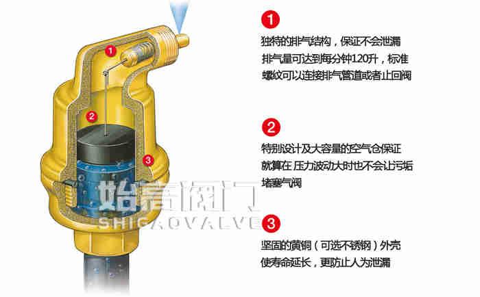 AB050不漏液自动排气阀结构图
