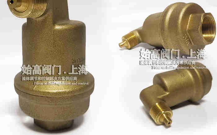 DN20黄铜不漏液排气阀实物2