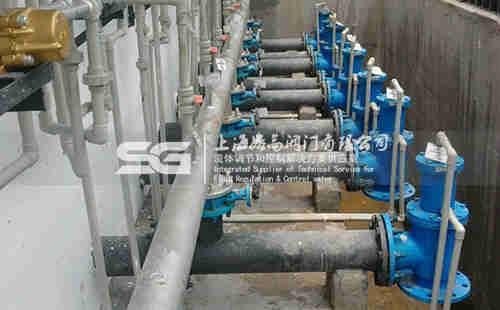 角式液动排泥阀水厂应用