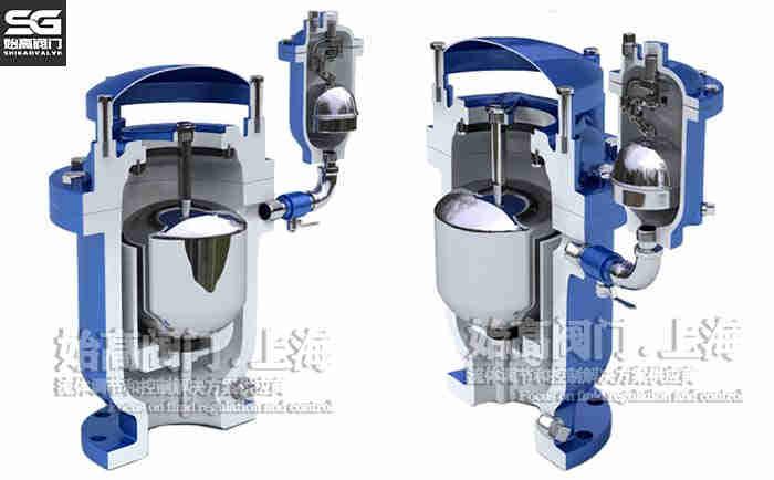 复合式高速排气阀FGP4X(分体式)结构