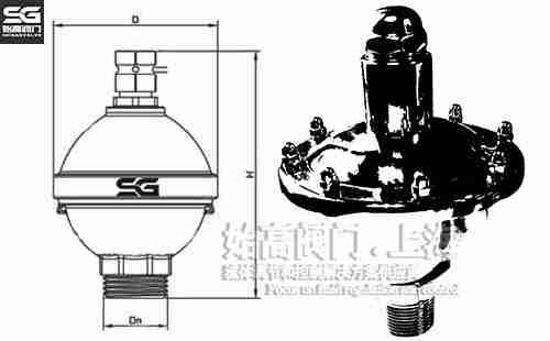 卫生级自动排气阀尺寸