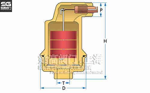 AB050自动排气阀尺寸
