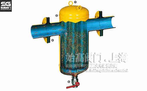 法兰碳钢螺旋除污器结构