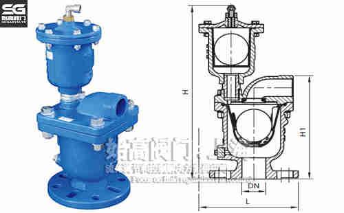DI5301组合式排气阀尺寸