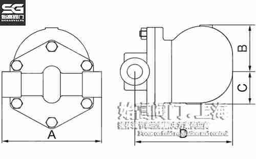 单阀座杠杆浮球式疏水阀尺寸