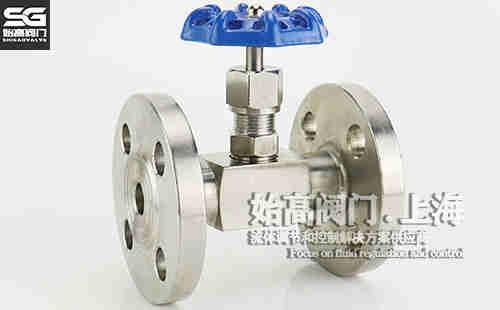 J41W不锈钢法兰针型阀实物