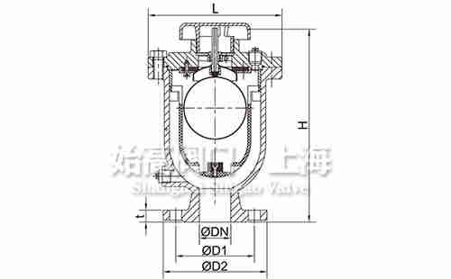 防水锤高压排气阀主阀尺寸图